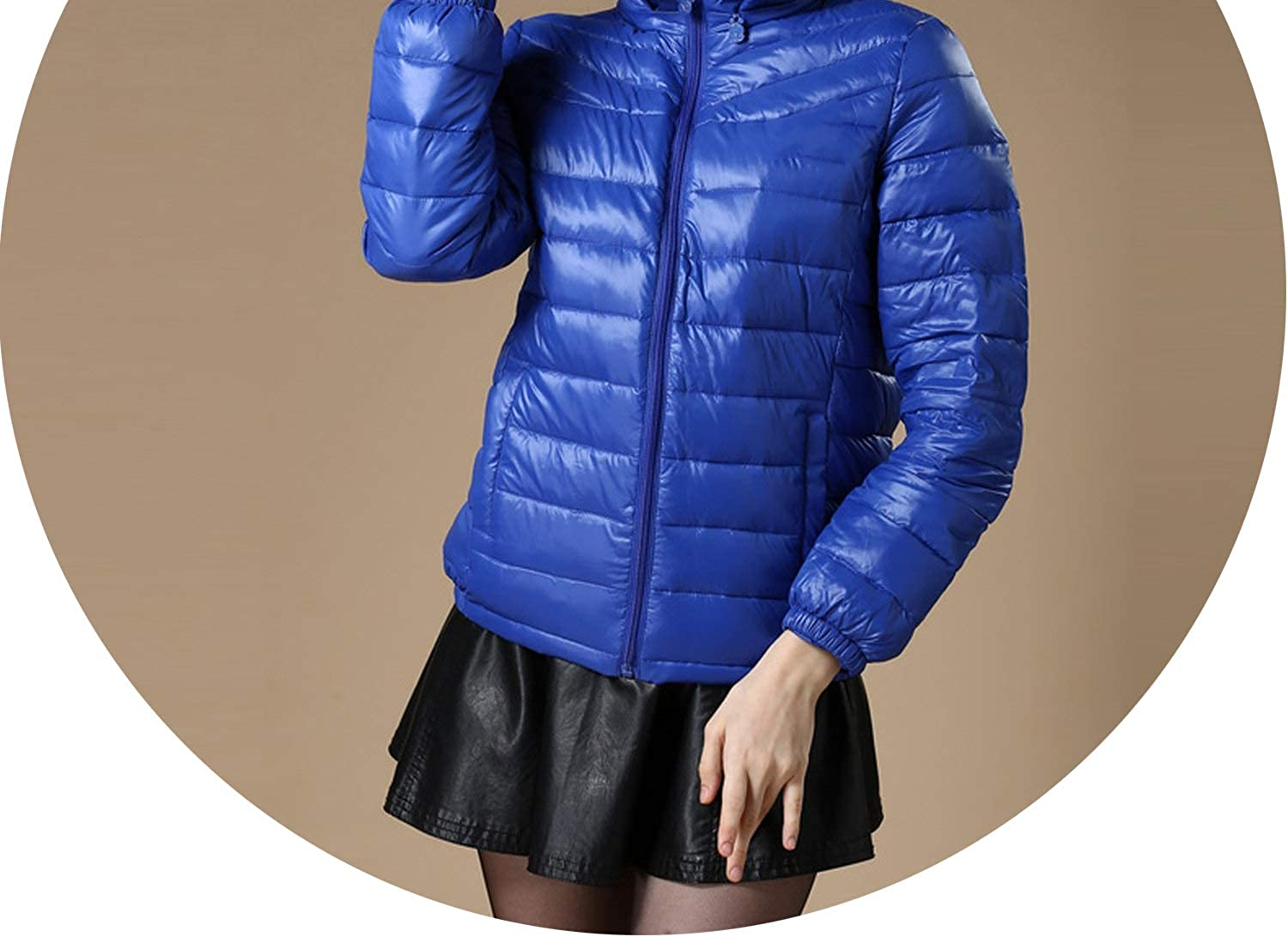 ShowShowFashion outerwearcoats Winter Women Jacket Women's Hooded Light Down Jackets Warm Winter Coat Parkas