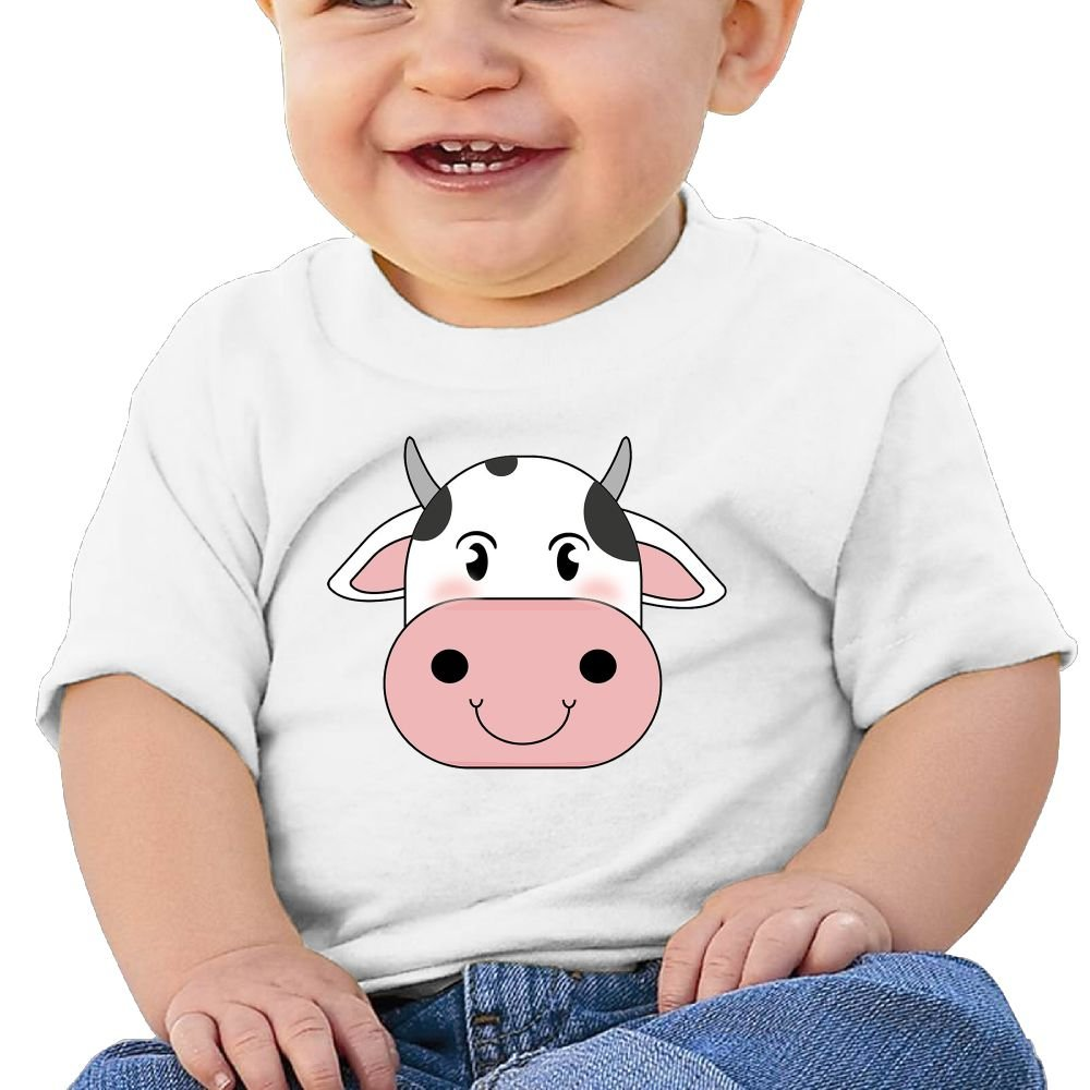 Cute Cow Face Baby Boy Clothes Short Sleeve Graphic Toddler T Shirt Boys Girls 6-24 Month