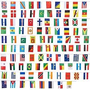amazon com juvale 100 piece international flags 80 feet small