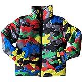 ZHENXI Fashion Women Men Autumn Winter Turtleneck Down Warm Coat - Colorful Camouflage Puffer Jacket Outwear Coat