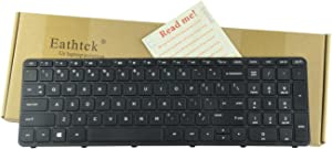 Eathtek Replacement Keyboard with Frame for HP Pavilion 15-N 15-E 15-E000 15-N000 15-N100 15-N000 15-E043CL 15-e076nr series Black US Layout, Compatible with part# 719853-001 708168-001
