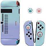 Teyomi - Funda para Nintendo Switch con 2 agarres para el pulgar, funda rígida ergonómica de TPU y cubierta protectora de ABS