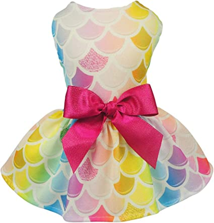 Fitwarm Sweet Ice Cream Pet Clothes for Dog Dresses Vest Shirts Sundress Pink