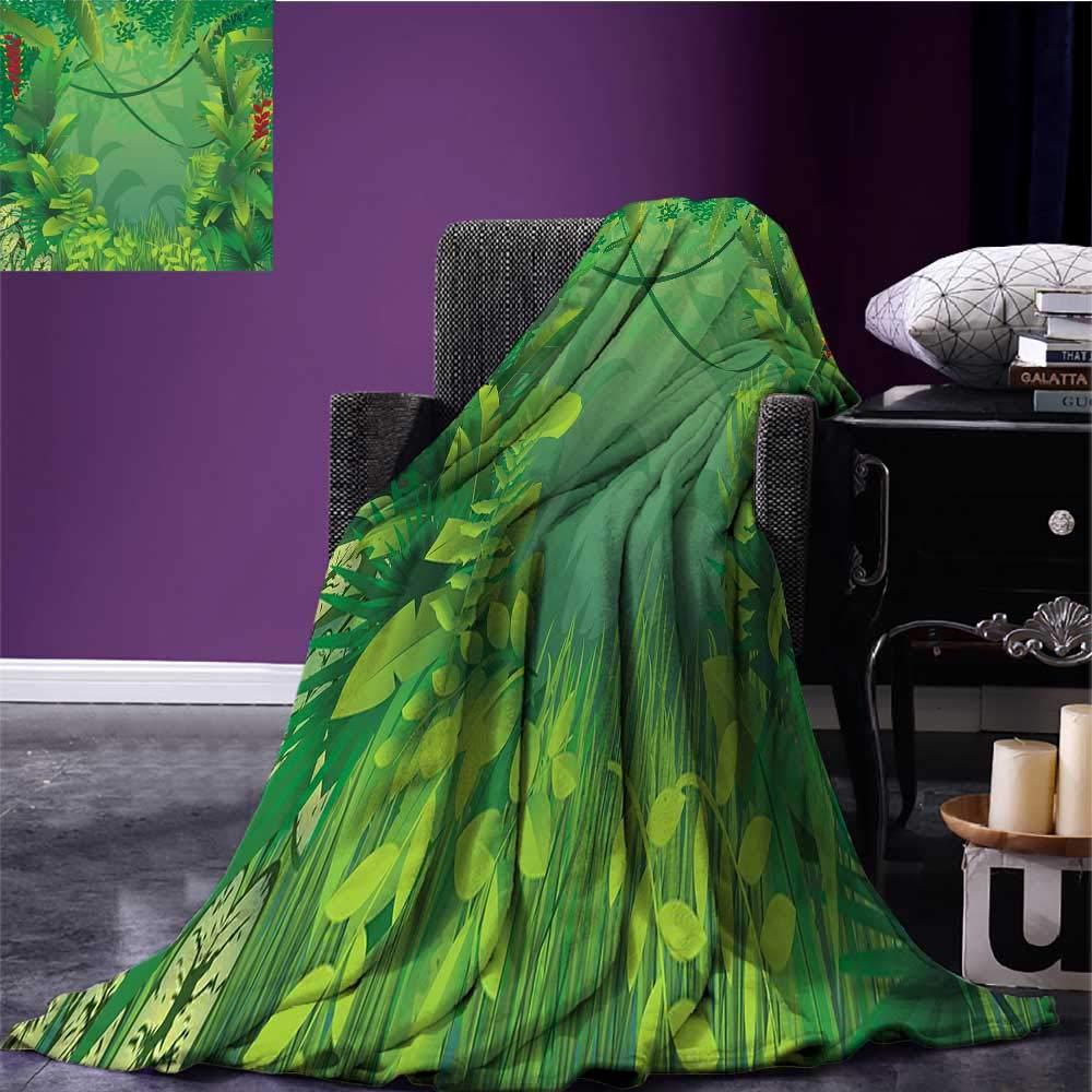 98f3713f7c38b Amazon.com: sunsunshine Green Leaf Lightweight Blanket Hawaiian ...