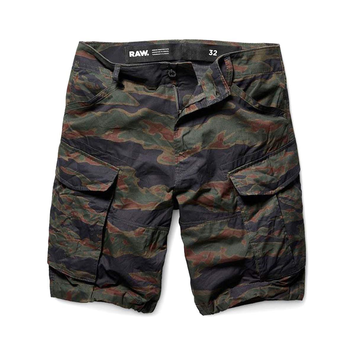 G-Star Raw Rovic PM Relaxed 1/2 Length Shorts Men | Smoke Green/Dark Vermont Green AOP (D09778-A572-9608)