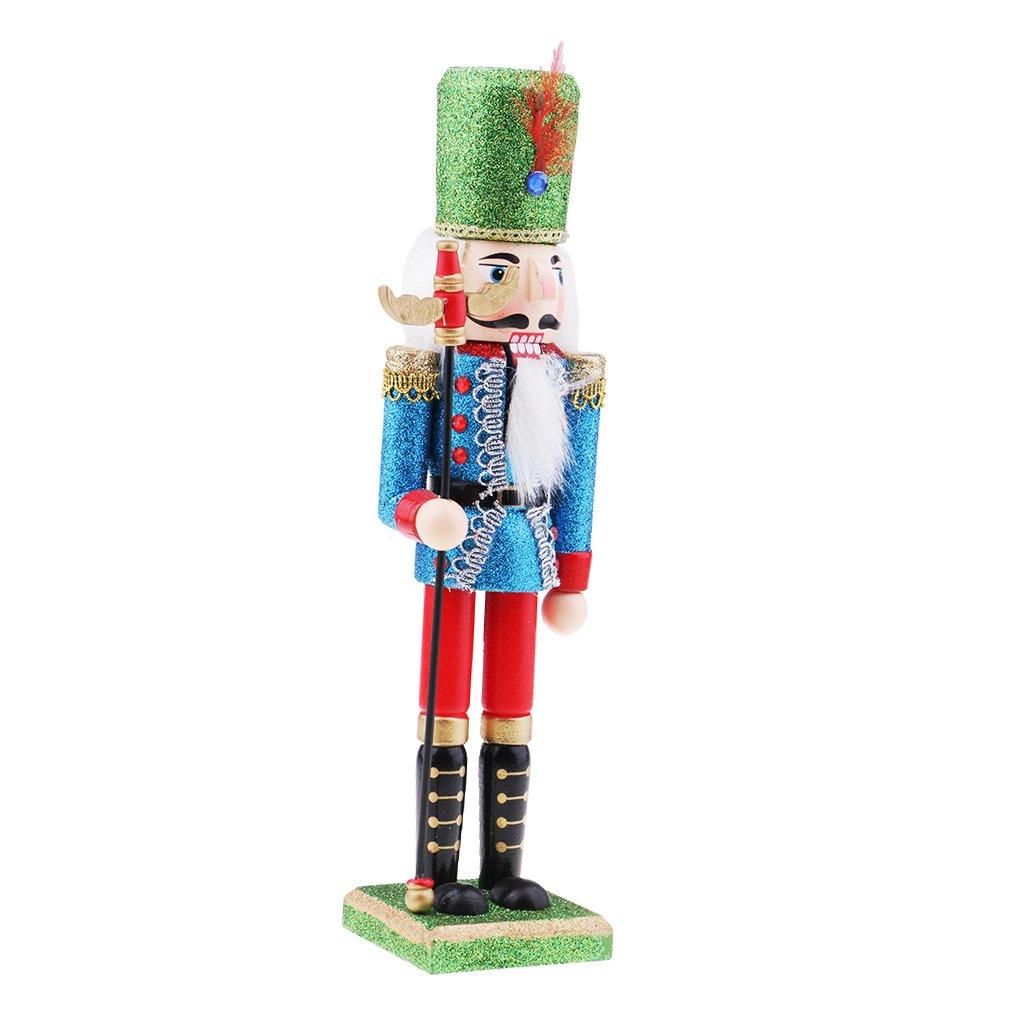 Baosity Christmas Walnut Clip Ornament Puppet Toy Soldier Decor Wooden Soldier Nutcracker Walnut Statue - #2