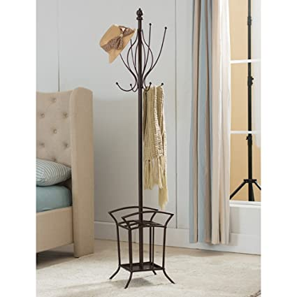 Amazon K B Furniture Metal Coat Rack With Umbrella Stand New Metal Coat Rack And Umbrella Stand