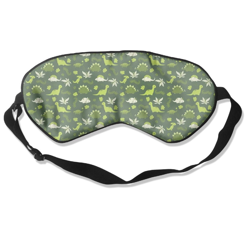 Sleep Mask Dinos Pattern Eye Cover Blackout Eye Masks,Soothing Puffy Eyes,Dark Circles,Stress,Breathable Blindfold For Women Men