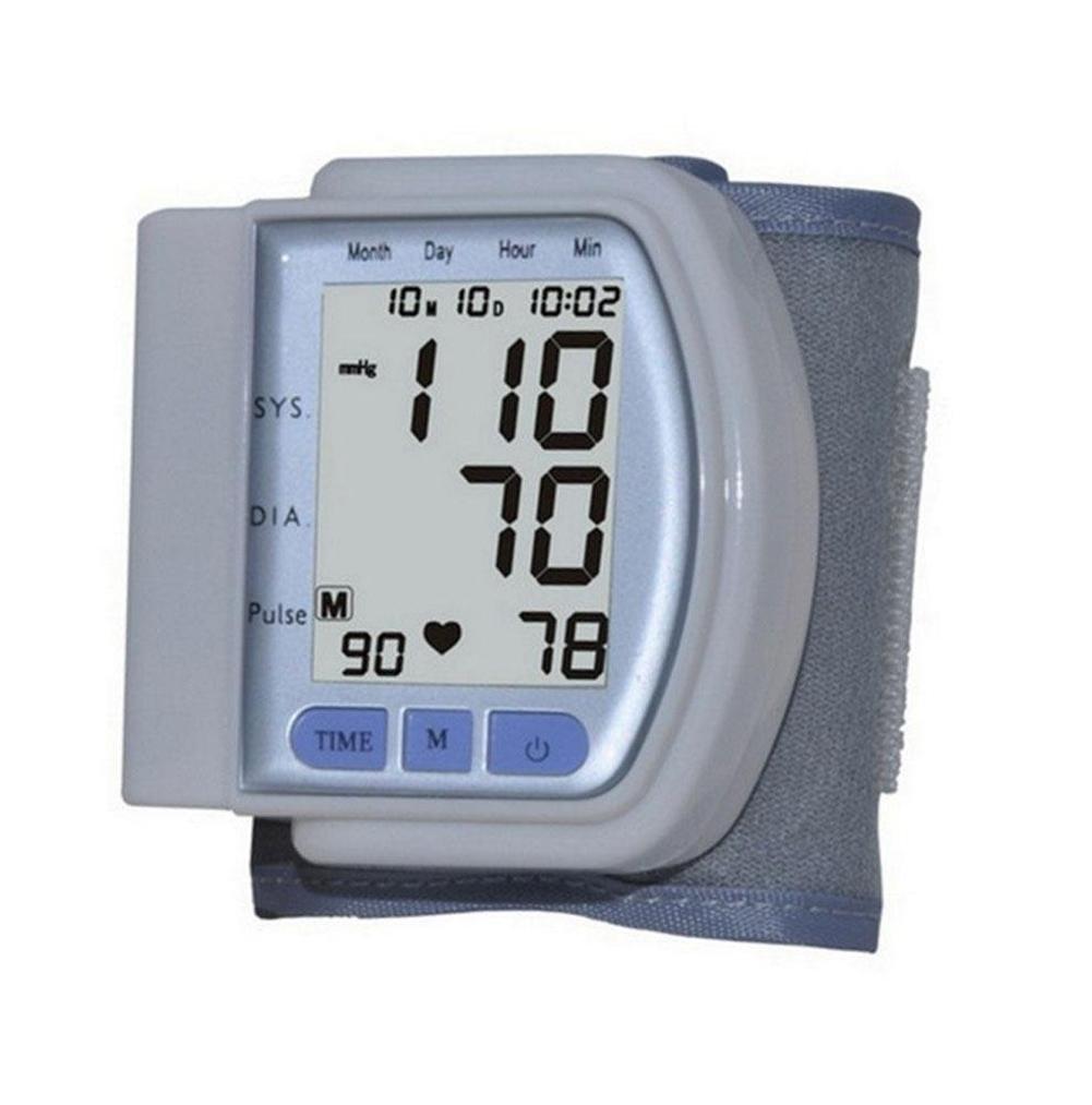 D&F TensióMetro De Brazo LCD Digital Inteligente ElectróNica De Voz Medidor De PresióN Arterial CE CertificacióN Tipo De MuñEca Detectores De ...