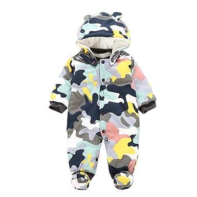 005854629e023 Meijunter Vêtements de bébé Manches Longue Capuche Combinaisons Bébé Enfant  Hiver Automne Multicolor Flannel One Piece Grenouillères Romper Bodysuits  ...