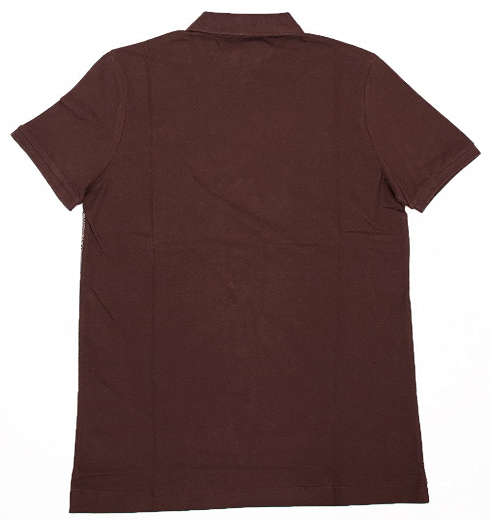 09d98f631 Amazon.com  Gucci Mens Polo Shirt Brown with Diamante Print and Front  Stripe Signature  Clothing