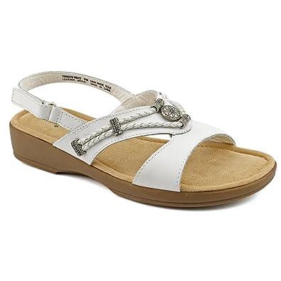 Minnetonka Silvie Slingbck Women's Sandal 5 B(M) US White-White