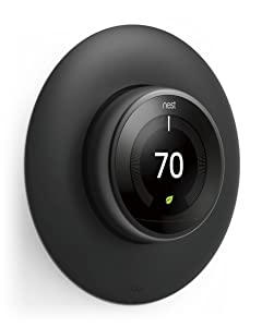 elago Wall Plate Cover for Nest Learning Thermostat 3rd, 2nd, 1st generation (Matte Black) - Luxurious Design, Easy Installation, Anti-Discoloration Coated, Soft Finish, Durable Material