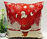 Tenworld Christmas Pillow Covers Decorative Sofa Bed Home Decoration Festival Pillowcase Cushion Cover 45x45 (D)