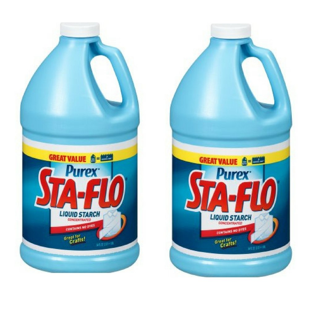 Purex Sta-Flo Concentrated Liquid Starch, 64 fl. oz. Plastic Jug (Pack of 2)
