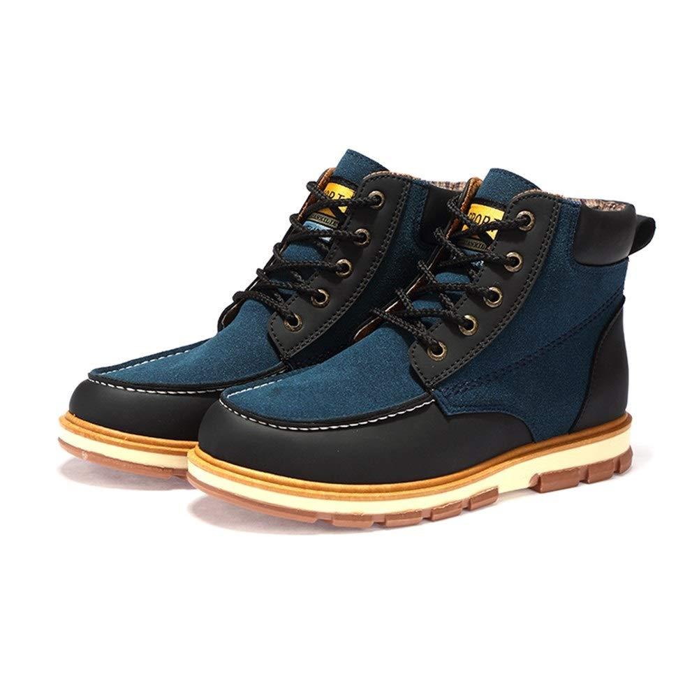 parte superior alta con cordones botas de trabajo for ir de excursi/ón Botines antideslizantes con costuras for hombres punta zapatos de cuero de gamuza GHC Oxfords de negocios fractura de muffin