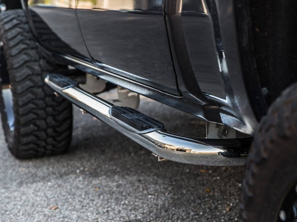 Ionic Pro Series 3 Stainless 2001-2006 Chevy Silverado GMC Sierra Crew Cab Only Nerf Bars Truck Side Steps 3310300 fits