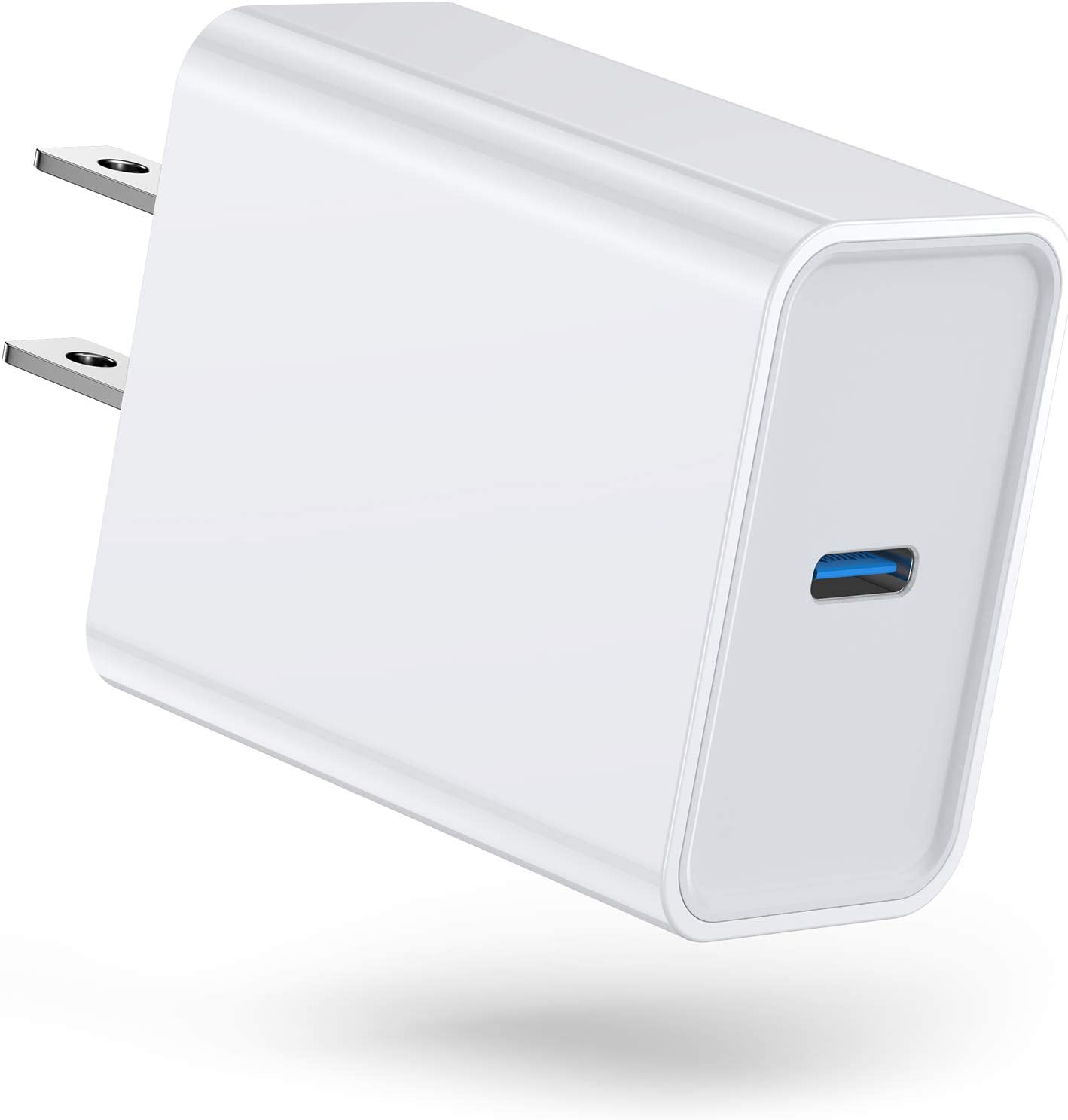 Upgarded USB C Fast Charger, 20W Power Delivery PD 3.0 Charger Block Type C USB Plug iPhone Cube Adapter for iPhone 12 11 Pro Max Xs Max XR X 8 Plus iPad Pro AirPods Pro Google Pixel 3/2/XL Samsung