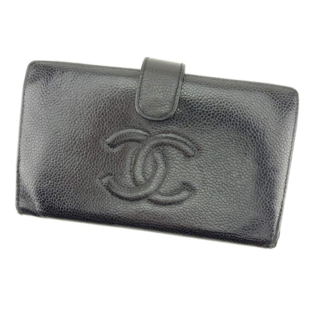 [シャネル] CHANEL 長財布 がま口 財布 レディース メンズ ココマーク 中古 T9138   B07NS5PC8P