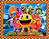 Pac Man and the Ghostly Adventures - Edible Cake Topper - 7.5' x 10' (1/4 sheet) rectangular