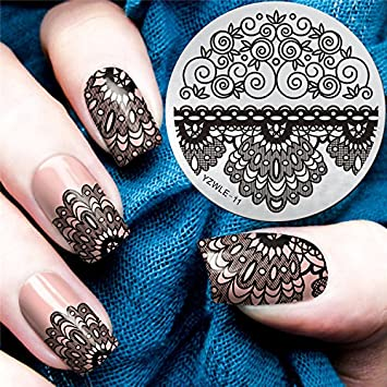 Yzwle 10 Styles Clear Jelly Silicone Marshmallow Stamper With Scraper Stamping Manicure Nail Stamping Plate Beauty & Health