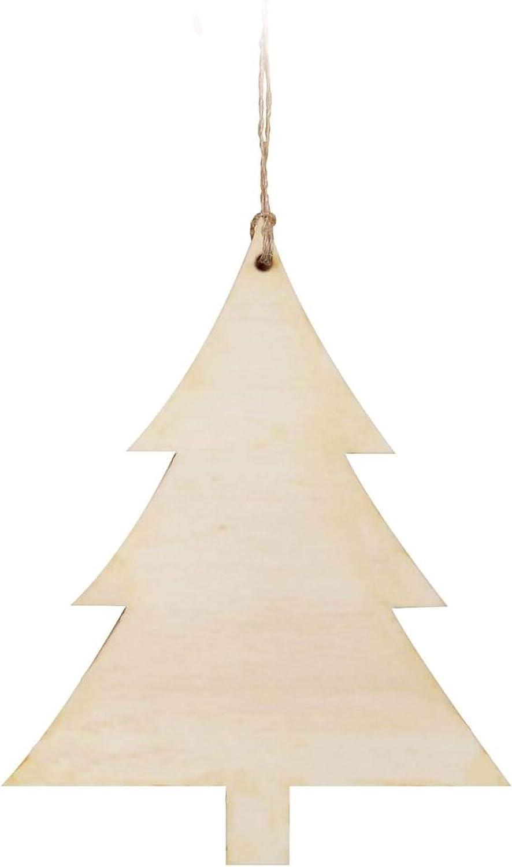 Graham Dunn CRA0056 Craft Decor Wood Ornament W//Twine 24//Pkg-Tree 3.75X4.75X.125 P