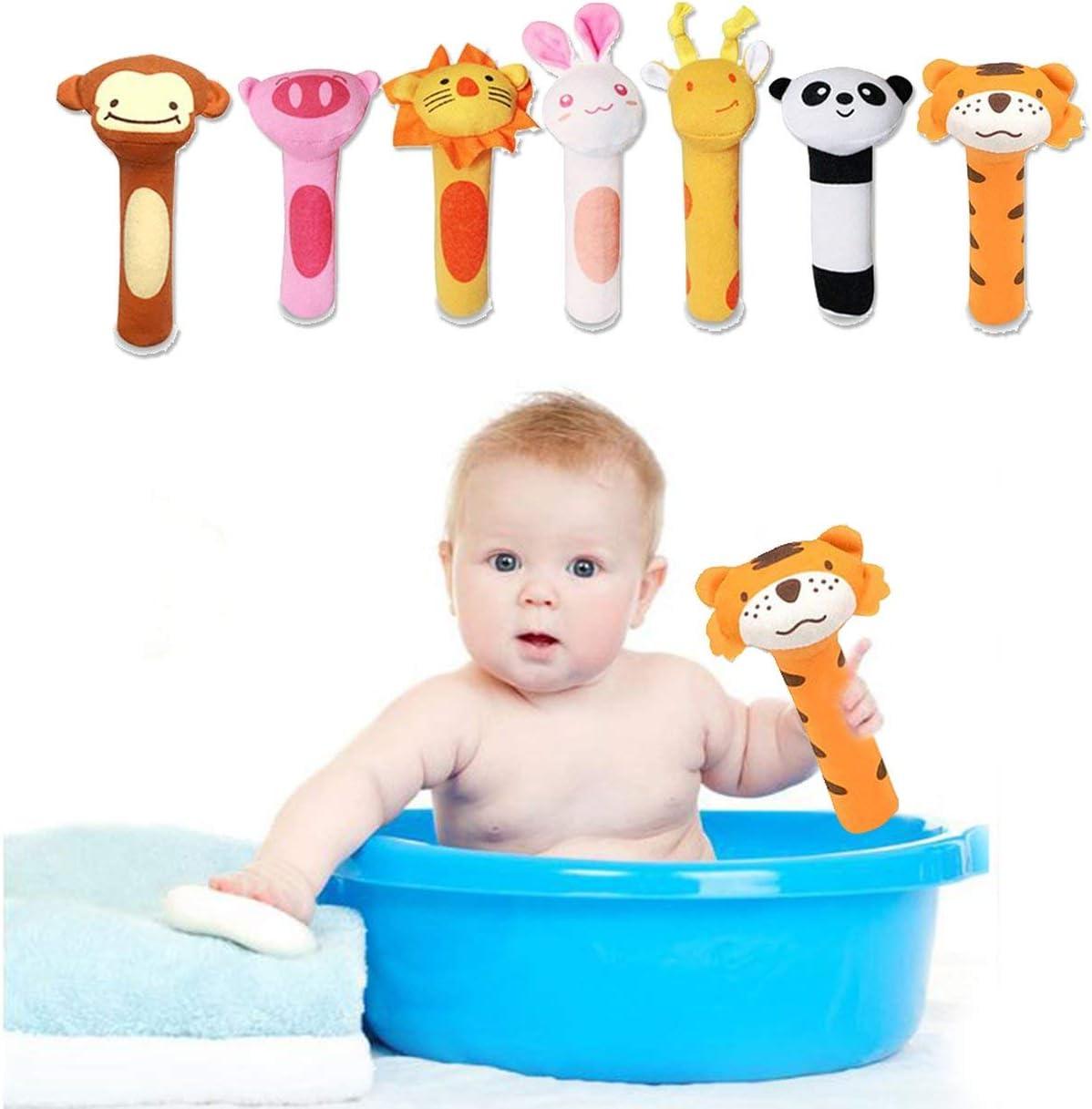 Lorenlli BB Stick Baby Toy Plush Hand Rattle BB Stick Animal BB Stick Hand Rattle Baby Hand Fleece Rattle