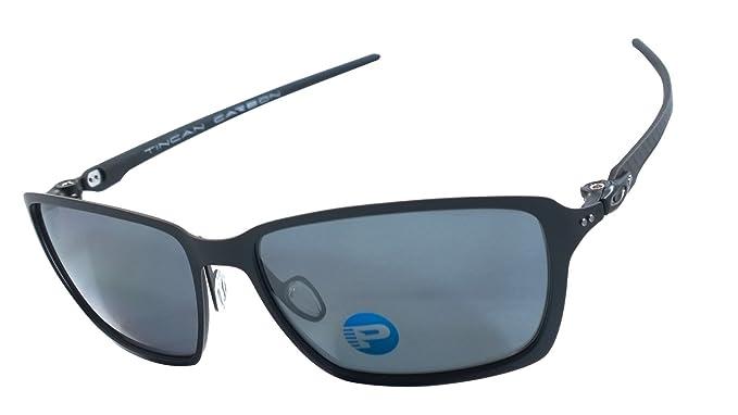 c7bae7c05b Image Unavailable. Image not available for. Colour  Oakley Oo6017-02 Tincan  Carbon 100% Authentic Men s Polarized Sunglasses ...