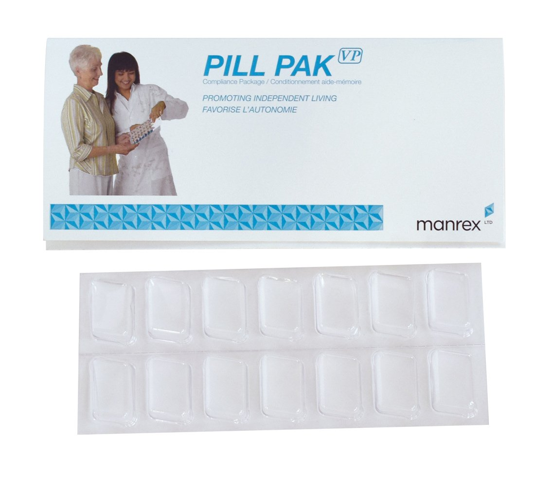Pill Pak - Weekly Twice a Day Blister Pack (10 Pack) Pill Organizer by Manrex