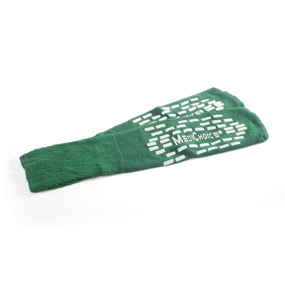 MediChoice Terry Cloth Slippers, Double Tread, XL, Green, 1314SLP14DG (Case of 48 Pairs - 96 Total)
