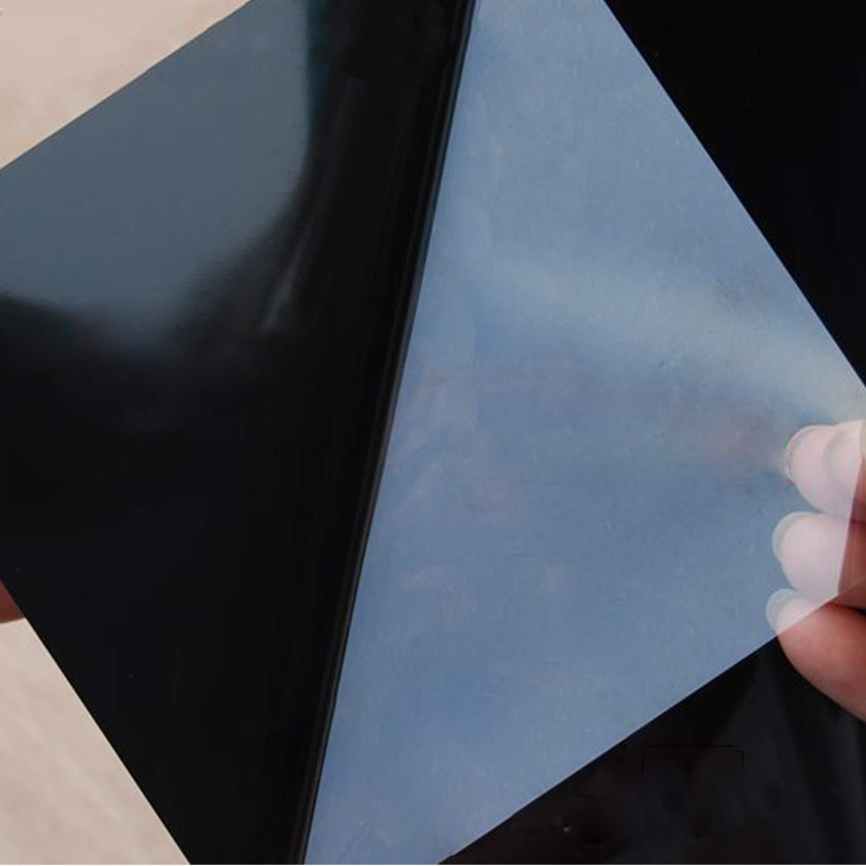 YHmall Film Vitre Miroir Fen/être /Électrostatique Anti Chaleur Anti-UV Auto-Adh/ésif pour Maison Bureau Transparant Argent 40cm*200cm