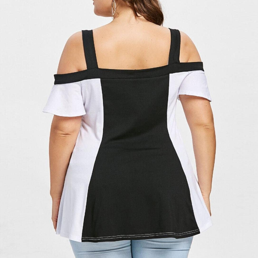 2XL, White Malbaba T-Shirt Irregular Fashion Solid Short Batwing Sleeve Shirt Vintage Blouse