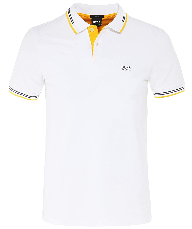 7fc90247a Hugo Boss Paul Slim Fit Stripe White Polo XXL White at Amazon Men's  Clothing store:
