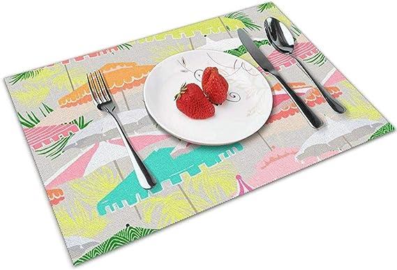 Esteras de mesa junto a la piscina Manteles individuales Protección de encimera para mesa de comedor de cocina: Amazon.es: Bebé
