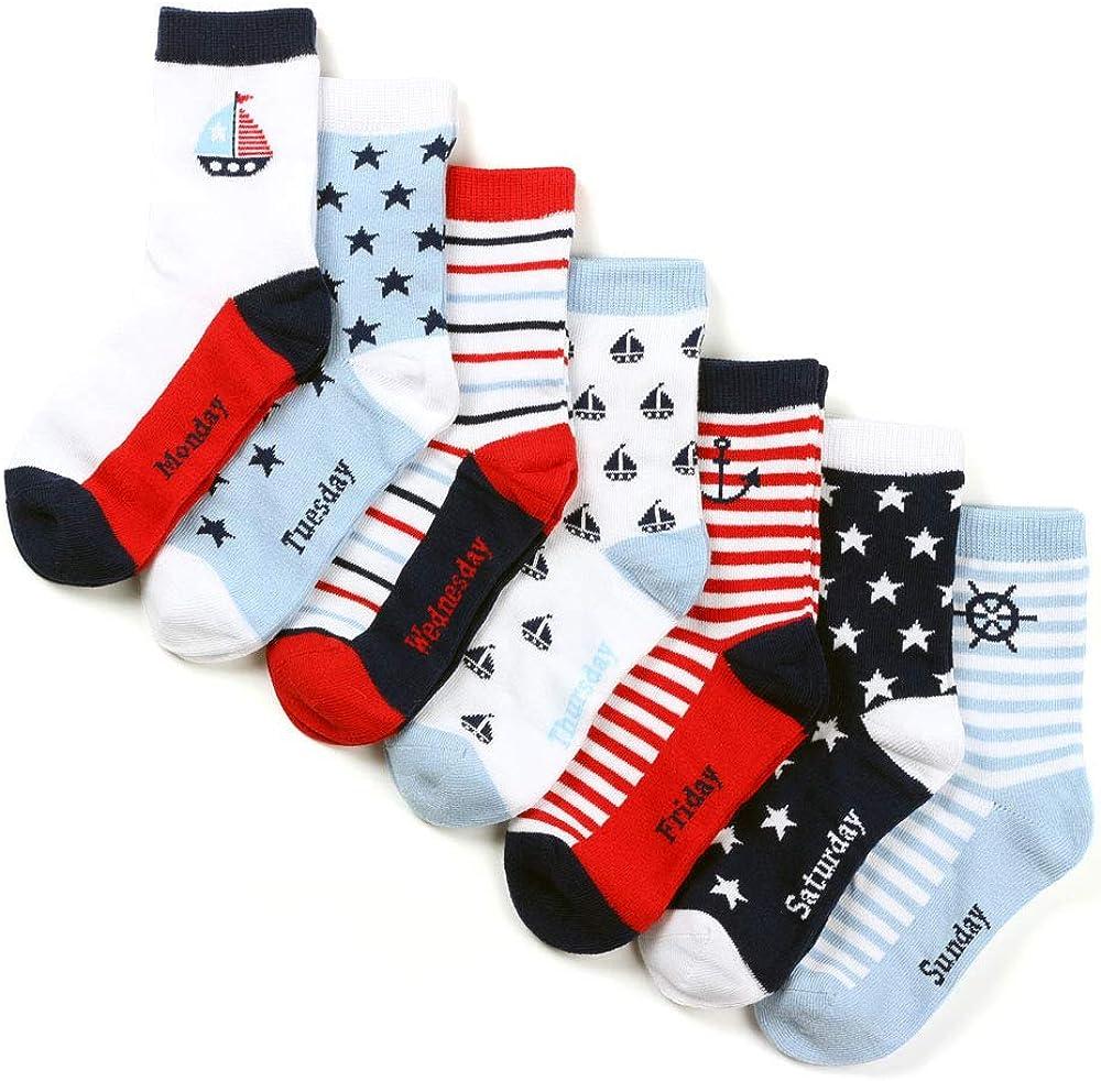 COTTON DAY Boys Fun Novelty Crew Socks