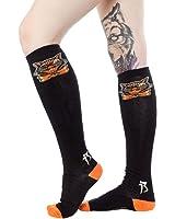 "Women's Sourpuss 17"" Socks Black Cats Socks Black"