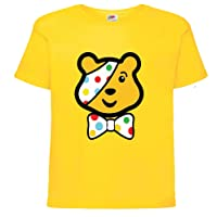 Children in Need Pudsey Bear with Bow Yellow Boys Girls