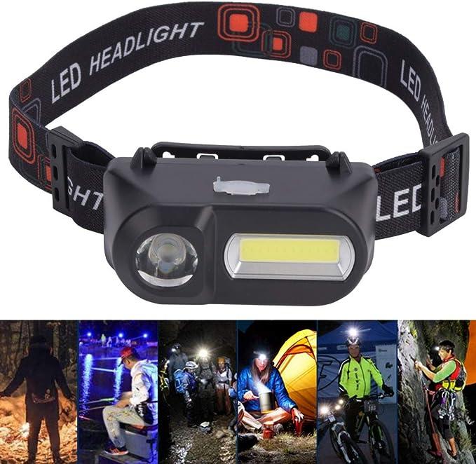Linterna frontal LED multifunci/ón para exteriores para mujeres y hombres en bicicleta y senderismo