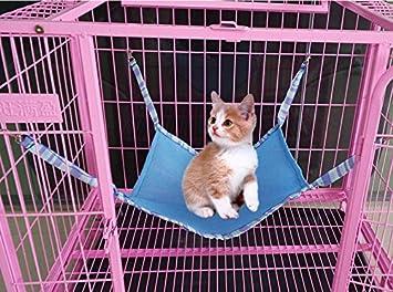 HNBGY Agraciado Verano Malla de sándwich Transpirable Mascota Gato Hurones Hamaca Columpio Estera (Azul Cielo/S): Amazon.es: Productos para mascotas