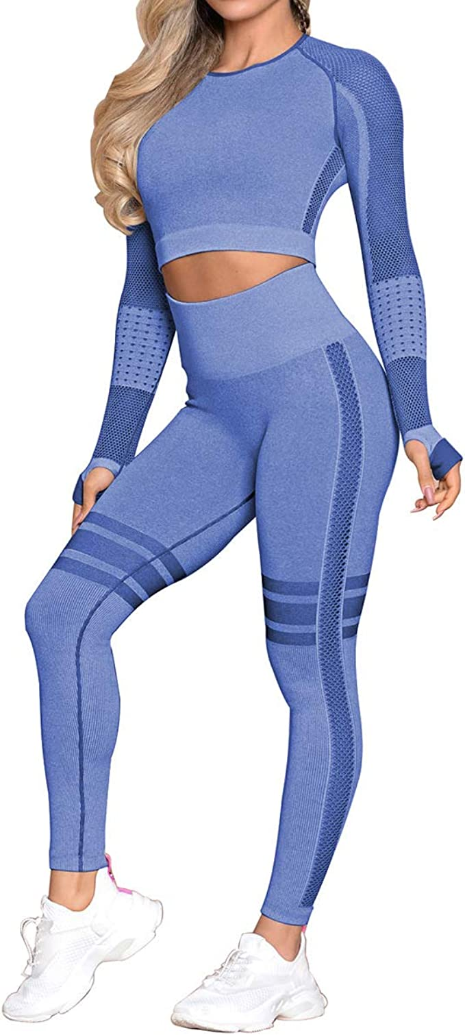 Seamless Womens Yoga Gym Crop Top Compression Workout ...
