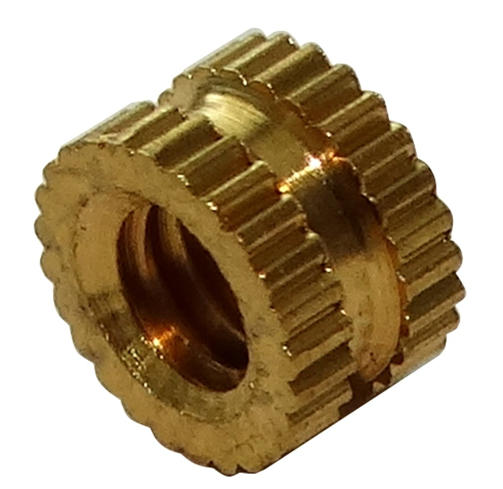 Aerzetix: 10 x M2.5 Brass Nut Inserts, 2.6mm Length for Thermo Plastic, C19274 C19274-AQ253 x10