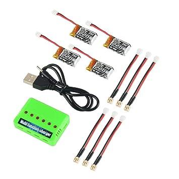Amazon.com: Makerfire 4 piezas 1S 3.7V 220mAh LiPo Batería ...