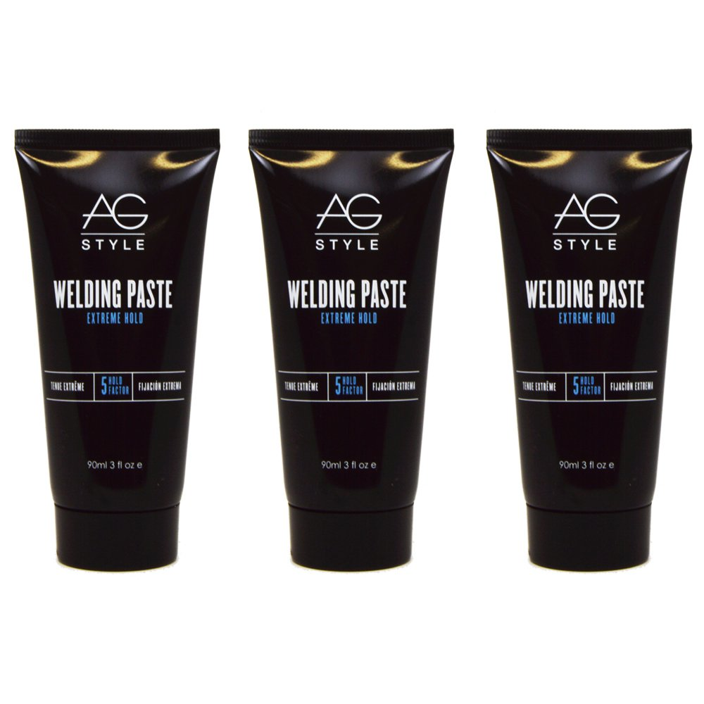 "AG Hair Welding Paste Extreme Hold 3oz ""Pack of 3"""