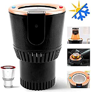 Olymbros Car Cup Warmer Cooler Premium 2-in-1 Portable Smart Auto Car Cup Drinks Holder for Water Coffee Beverage Milk with Display Temperature Heater Cooler Fits in Traveler Road Tripper Outdoors