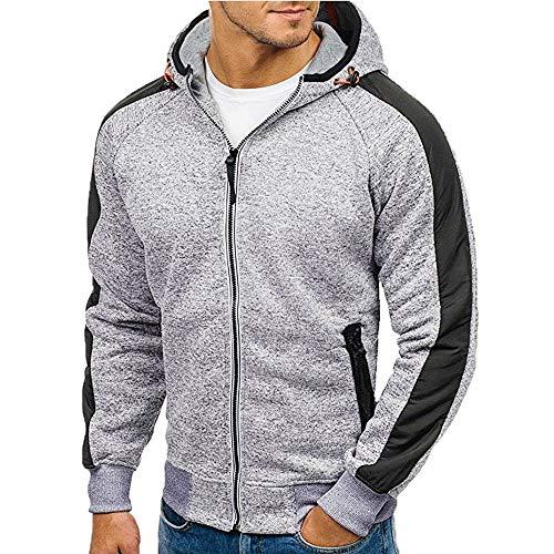 Hooded Sweatshirt,SMALLE◕‿◕ Men's Athletic Fit Full Zip Fleece Hooded Sweatshirt Active Hoodie - Series Strawberry Probiotic