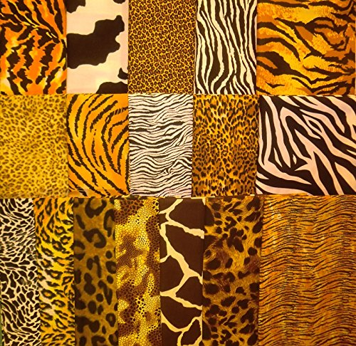 Animal Skin Prints (17 Fat Quarters Animal Skin Print from Marshall Dry Goods 100% Cotton Quilt)