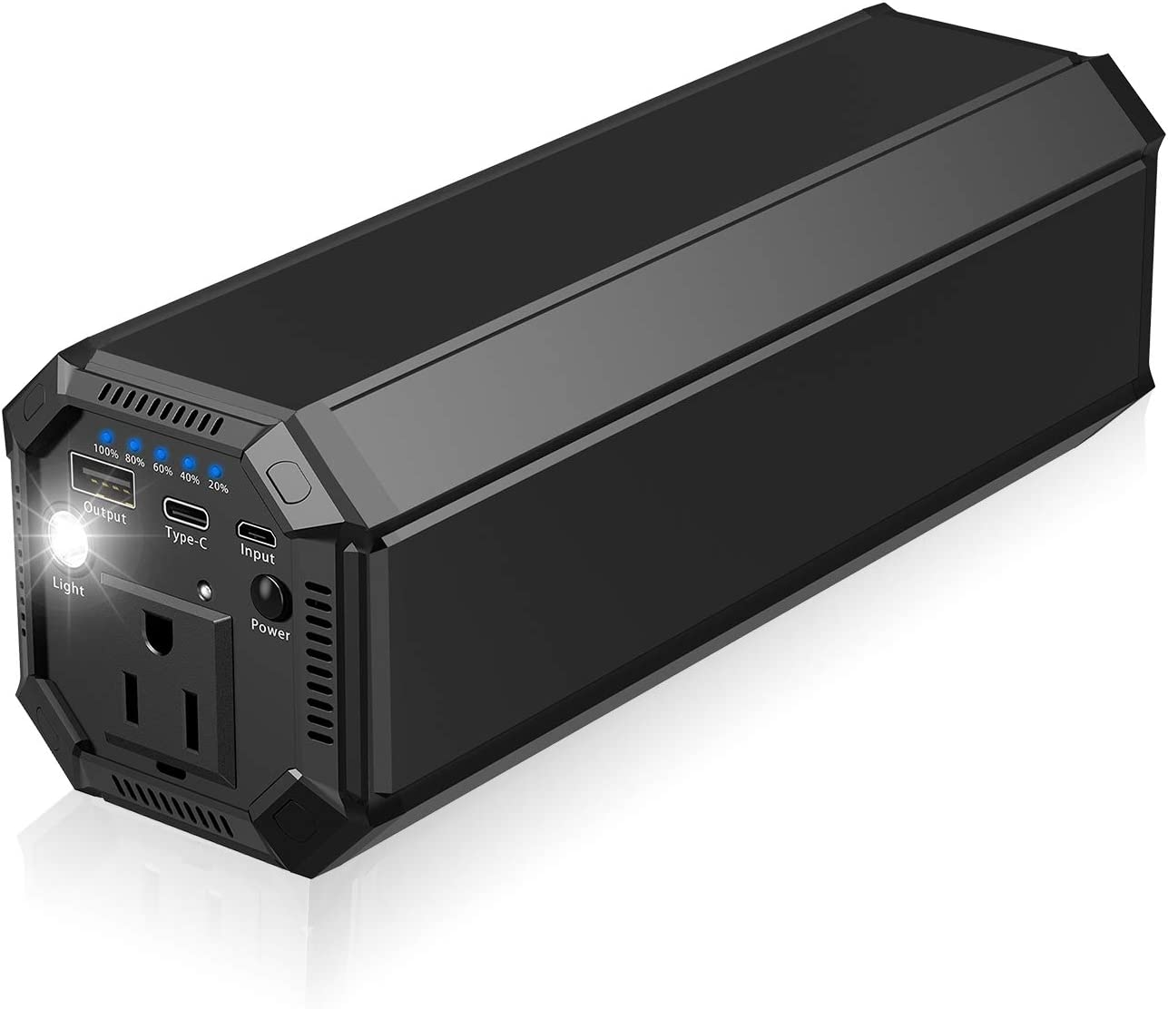 AC Outlet Power Bank, Portable Inverter Power Supply Laptop Charger, Universal 116Wh/31200mAh Power Station 100W Laptop Battery Pack Compatible PC, Laptops, Tablets and Smartphone