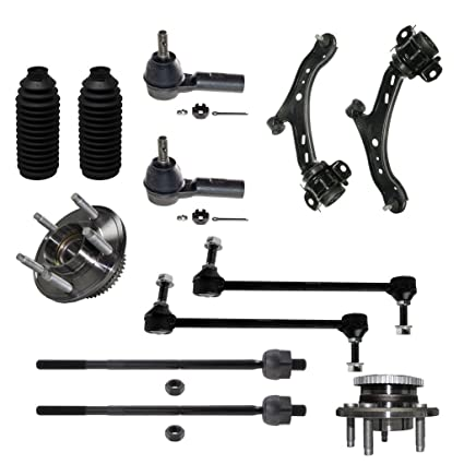 Amazon com: Detroit Axle - 12pc Front Suspension Kit For