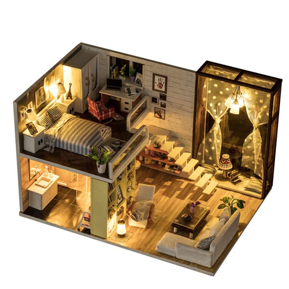 Traje de casa de muñecas en miniatura de bricolaje casa de ...