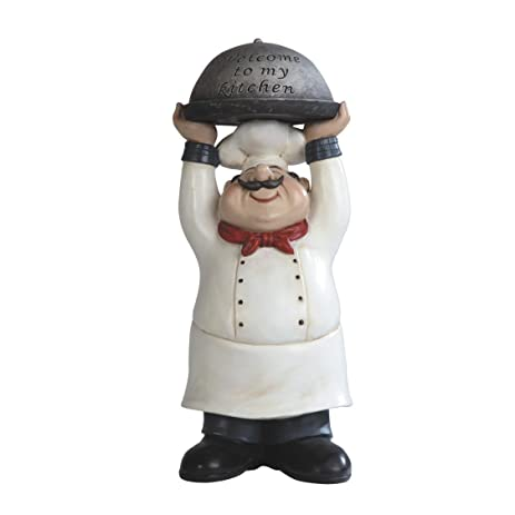Beau 14u0026quot; Welcome To My Kitchen Chef Decor Statue Collectible Cook Kitchen  Figurine
